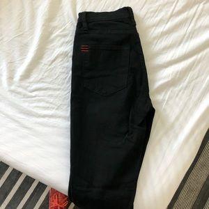 BDG Twig high rise skinny jean in black. Worn once